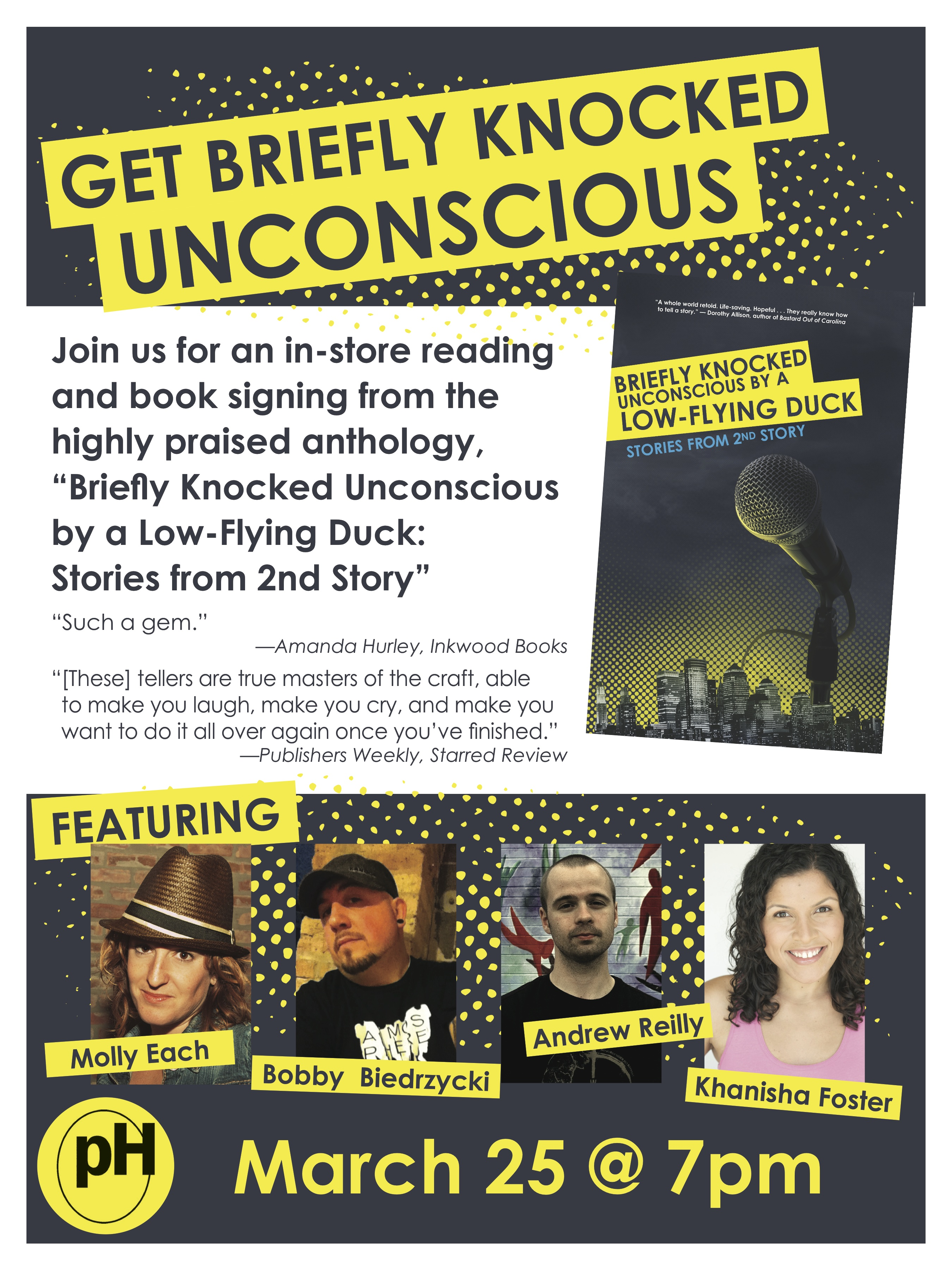 Book Launch: Briefly Knocked Unconscious by a Low-Flying Duck: Stories from 2nd Story