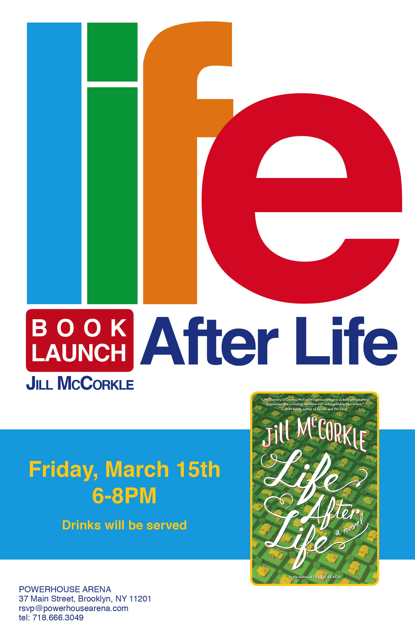 Book Launch: Life After Life by Jill McCorkle with Christine Schutt