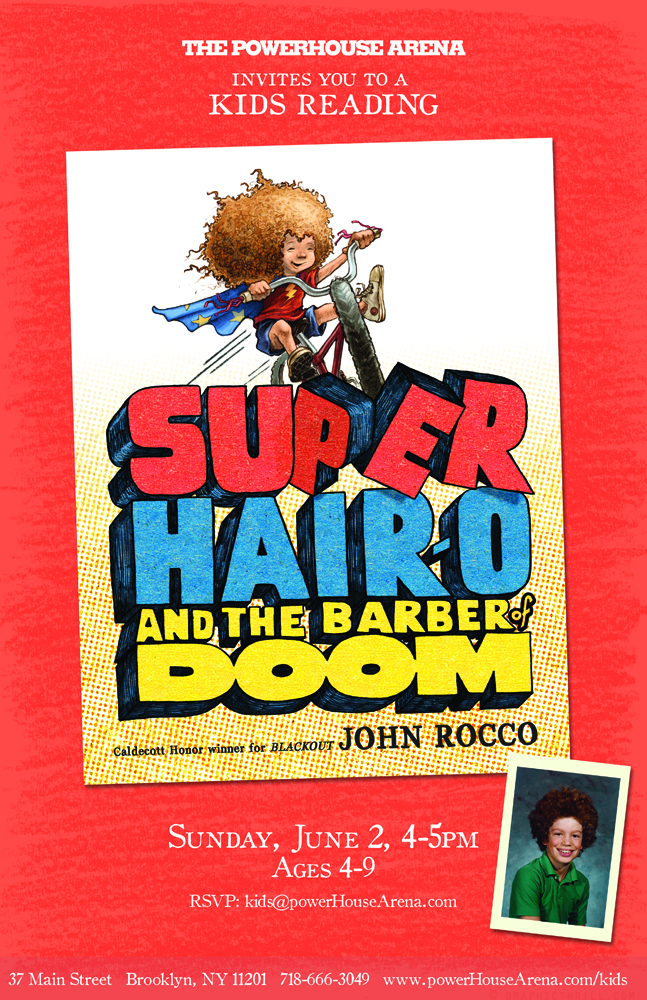 Kids Reading: Super Hair-O and the Barber of Doom by John Rocco