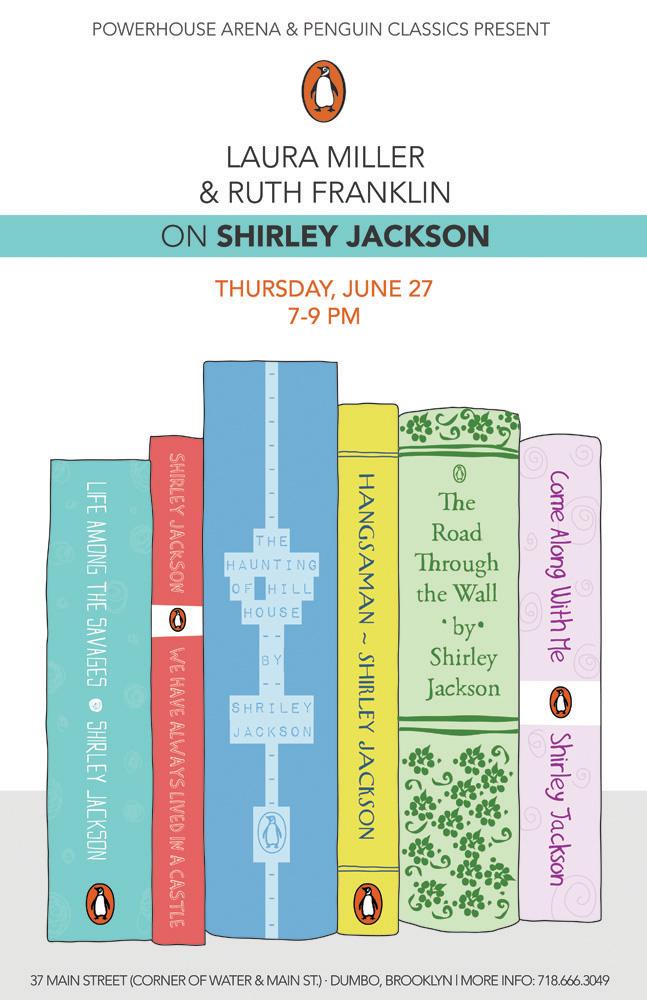 powerHouse Arena + Penguin Classics Present: Laura Miller & Ruth Franklin on Shirley Jackson