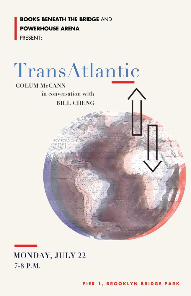 Books Beneath the Bridge: TransAtlantic by Colum McCann, with Bill Cheng