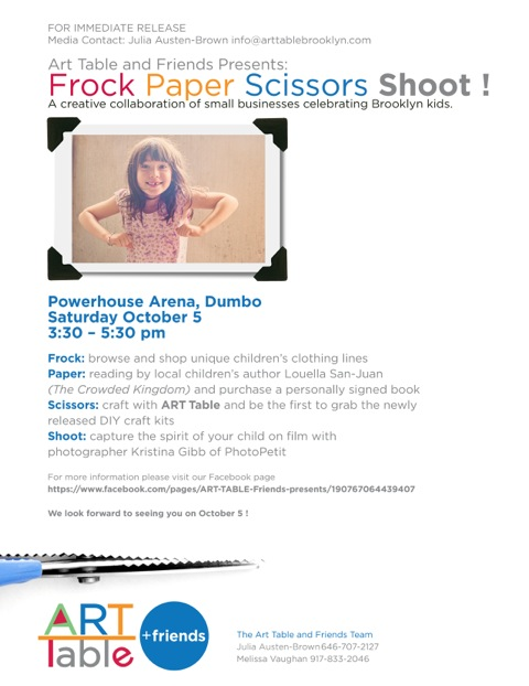 ART TABLE & Friends presents: FROCK PAPER SCISSORS SHOOT