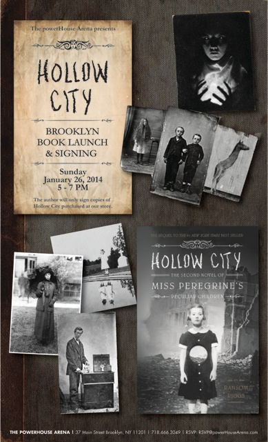 Brooklyn Book Launch: Hollow City by Ransom Riggs
