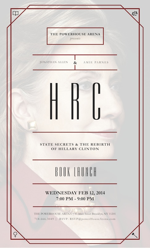 Book Launch: HRC by Jonathan Allen and Amie Parnes