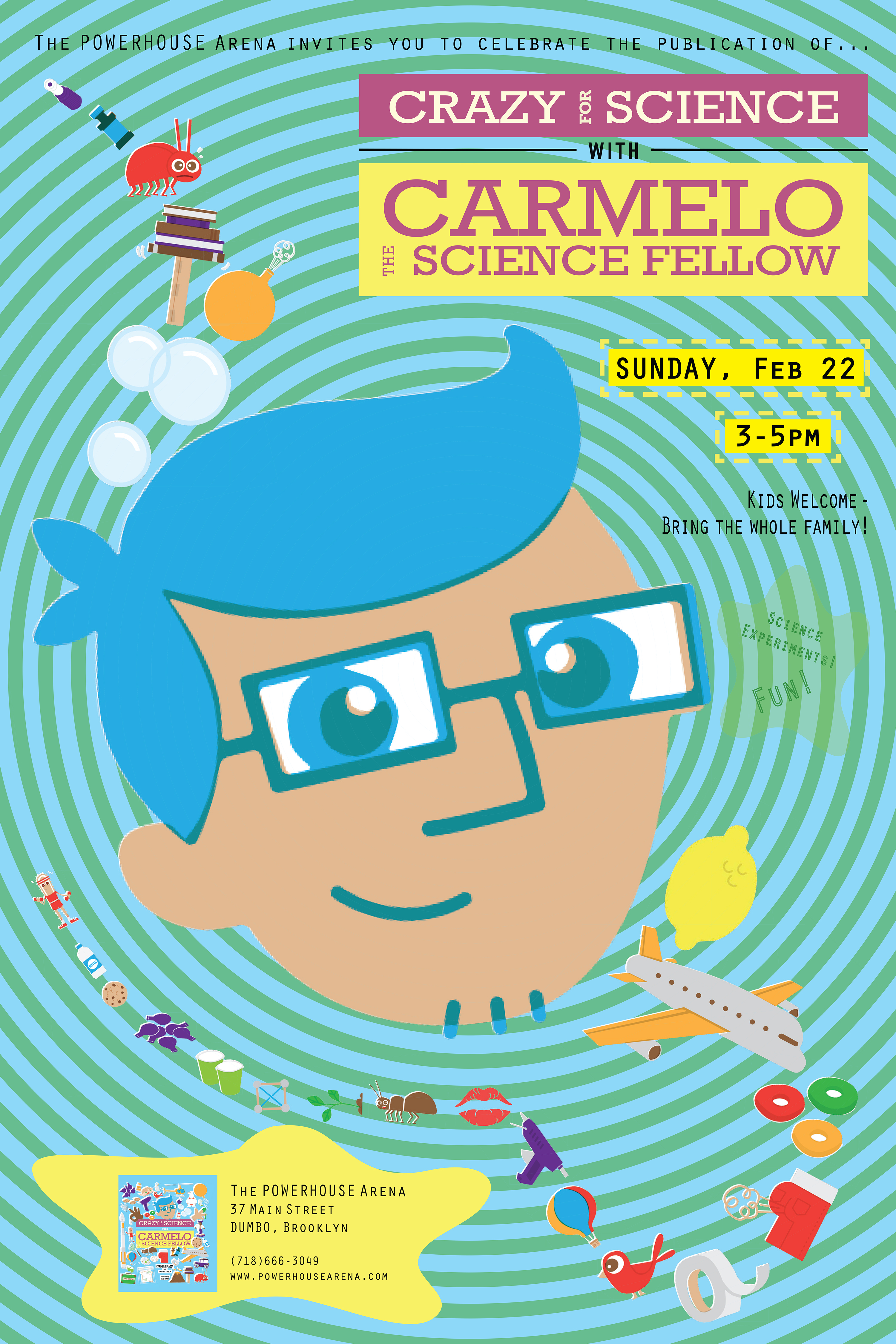 Kids Book Launch: Crazy for Science with Carmelo the Science Fellow