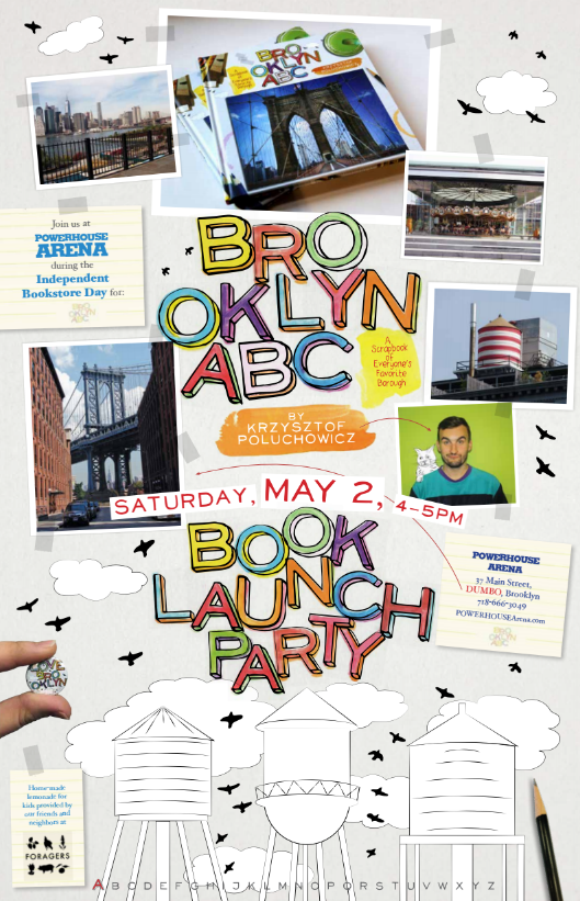 Kids Book Launch: Brooklyn ABC: A Scrapbook to Everyone's Favorite Borough by Krzysztof Poluchowicz