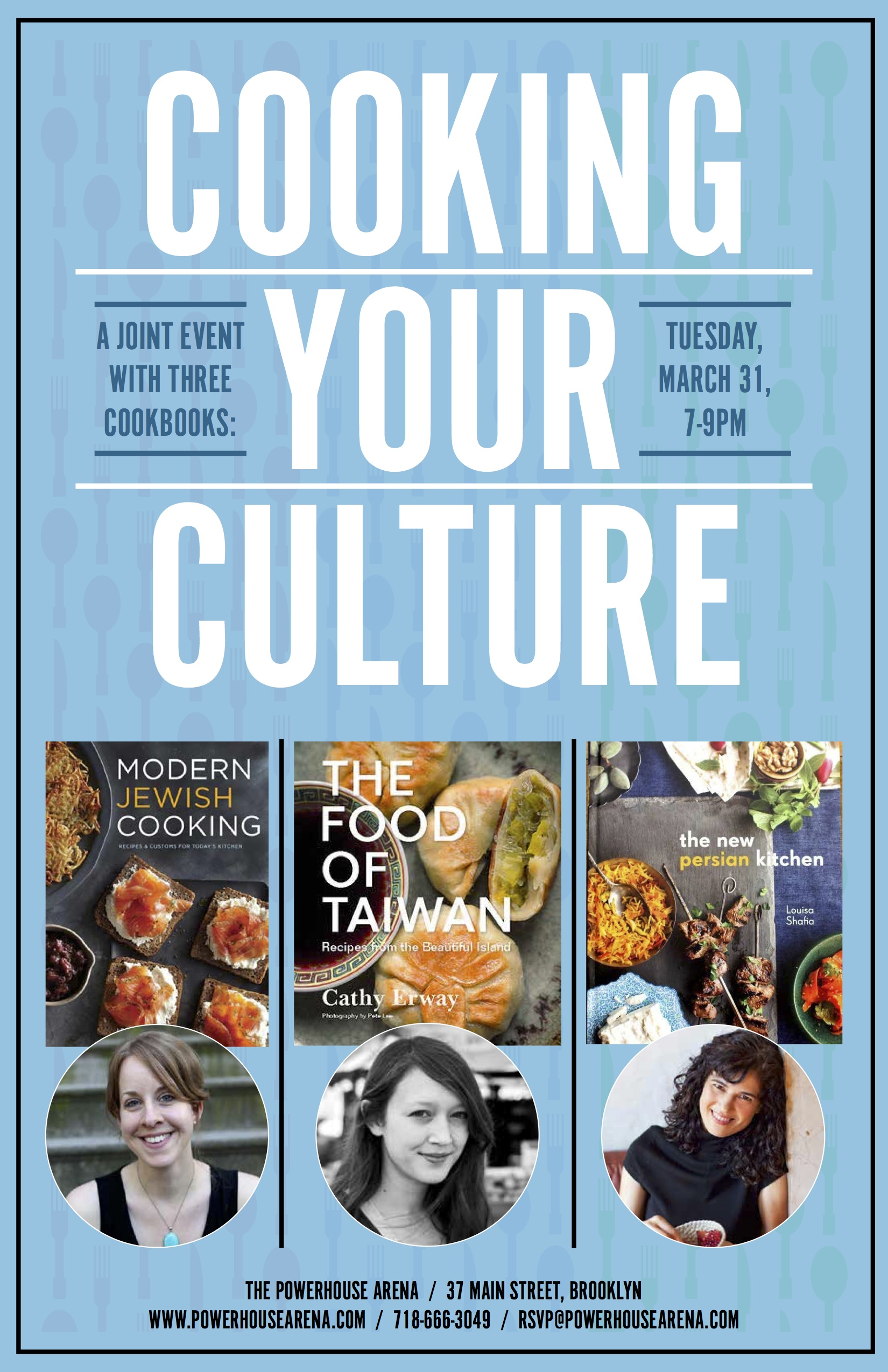 Book Launch Party: Cooking Your Culture with Leah Koenig, Luisa Shafia and Cathy Erway in discussion with  Beth Kracklauer